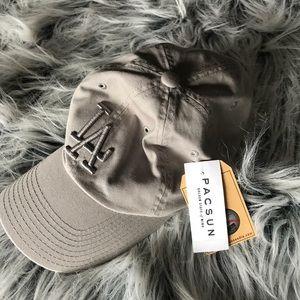Grey Dodgers dad hat